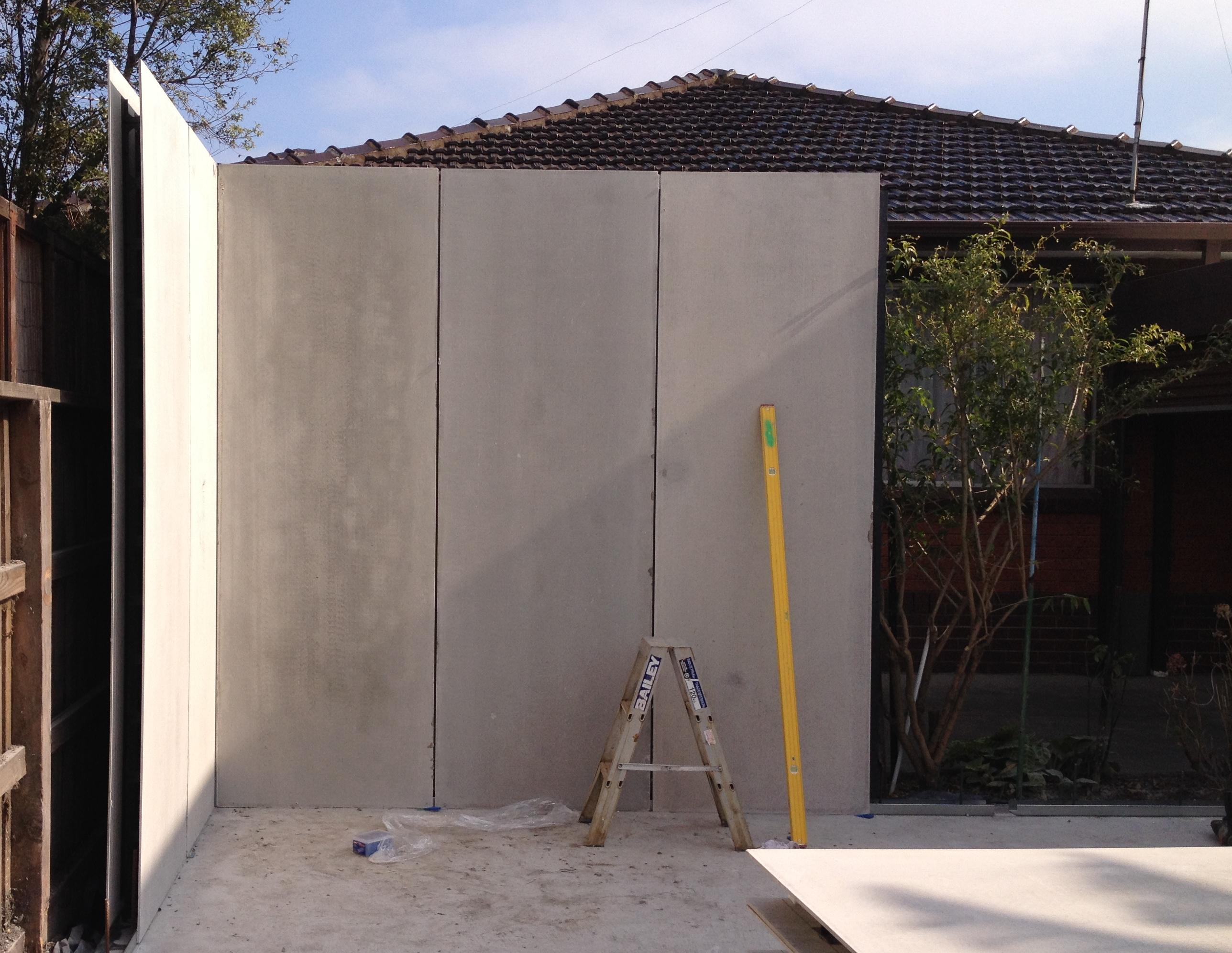Graham St Port Melbourne - Permanent Formwork Walls