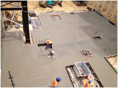 New Basement Slab - Helio Apartments - North Melbourne VIC