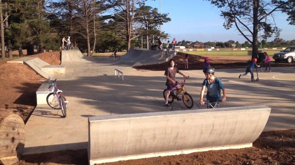Helix Steel Australia – Micro Rebar used on the Bannockburn Skate Park regional Victoria
